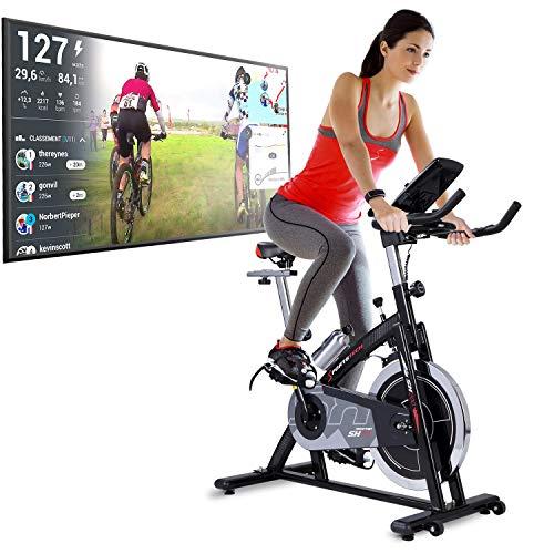 Sportstech Bicicleta Estática | Bicicleta Fitness con Volante de 22 kg – Eventos en Video & App Multijugador, Incl…
