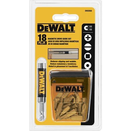 - DEWALT DW2058CS Compact Magnetic Drive Guide Set, 18-Piece