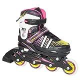R-SPEED Adjustable Inline Skate Beginner Training Skates Junior Durable Rollerblades - Kids,Adults,Boys,Girls,Womens -Outdoor Practice Recreation