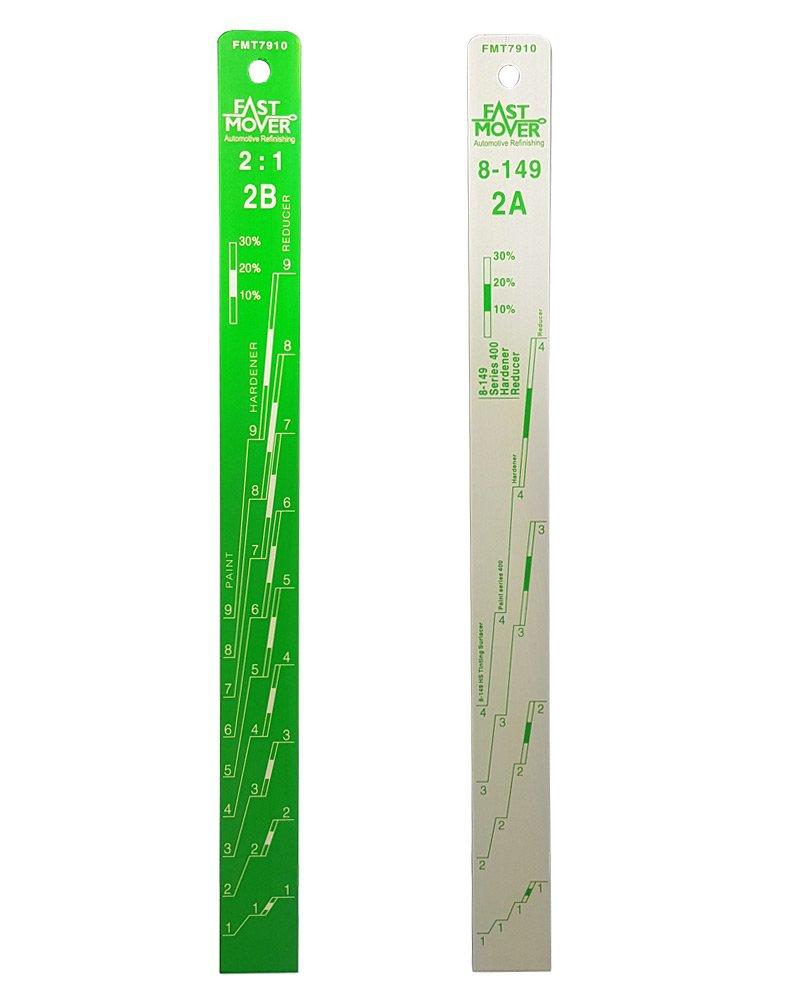 Aluminium Paint Mixing Stick 2:1 /& 4:1 Fast Mover Tools