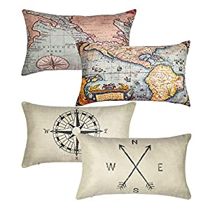 51W2i-c6SBL._SS300_ 100+ Nautical Pillows & Nautical Pillow Covers