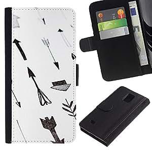 iKiki Tech / Cartera Funda Carcasa - Paper Hand White Gray Deep - Samsung Galaxy Note 4 SM-N910F SM-N910K SM-N910C SM-N910W8 SM-N910U SM-N910