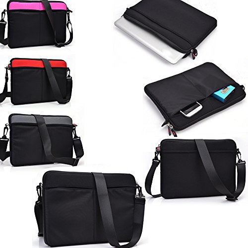 Mach Speed Trio Stealth G4 10.1 , Trio Stealth G2 10.1 , Michley Tivax MiTraveler 10 inch Tablet Premium Neoprene Messenger Shoulder bag with Accessory pockets- Machine Washable- Black