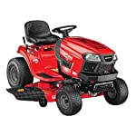 Craftsman T150 19 HP Briggs & Stratton Gold  46-Inch Gas Powered  Riding Lawn Mower 9 POWERFUL BRIGGS AND STRATTON GAS ENGINE WITH READY START: Powerful gas engine suitable for larger yard jobs while ready start technology provides a quick, efficient start. 46-INCH CUTTING DECK WITH INCLUDED DECK WASH: Lawn tractor comes equipped with wide 46-Inch cutting deck for cutting, trimming, and clipping grass in one quick sweep. Included deck wash saves time when underside cleaning. HYDRO-TRANSMISSION: Unit is equipped with hand adjustable hydrostatic transmission.