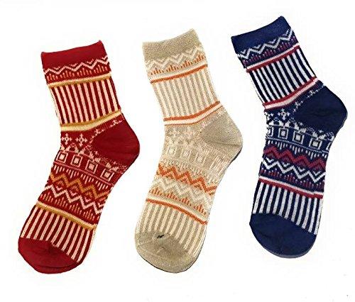 QUEERY Women Self Design Crew Length Socks  Pack of 3