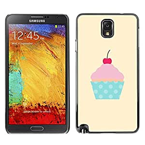 Plastic Shell Protective Case Cover || Samsung Galaxy Note 3 N9000 N9002 N9005 || Polka Dot Cupcake Pink @XPTECH