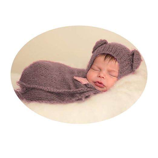 Fengbingl-cl Ropa de la fotografía del bebé Traje de bebé ...