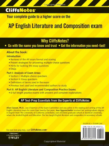 CliffsNotes AP English Literature and Composition, 3rd Edition (Cliffs AP) by Cliffs Notes