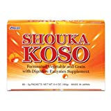 Umeken Shouka Koso- Digestive Enzymes from Fermented Vegetables and Grains to help with Indigestion, Hyperacidity, Bloating, Overeating. Made in Japan. 90 Packets.