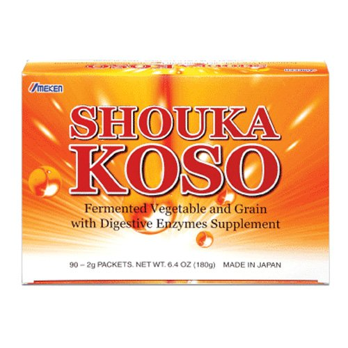 Umeken Shouka Koso- Digestive Enzymes from Fermented Vegetables and Grains to help with Indigestion, Hyperacidity, Bloating, Overeating. Made in Japan. 90 Packets. by Umeken