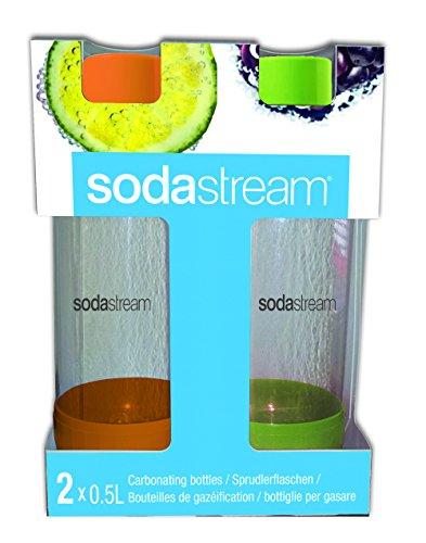 sodastream 1 2 liter carbonating bottle orange green 2 pack buy online in uae kitchen. Black Bedroom Furniture Sets. Home Design Ideas