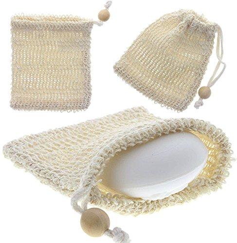 Sisal Seifensäckchen Kosmetex, für Seifenreste, Seifschwamm, Duschschwamm zum Einseifen, Badeschwamm, Peelingschwamm, 1 Stück