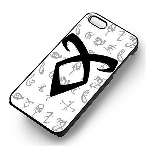 Mortal Instrument Angelic pour Coque Iphone 7 Case (Noir Boîtier en plastique dur) G6T4PX