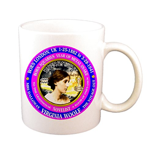 Virginia Woolf Writer Astrology Aquarius Zodiac Metal Snake Cup (Best Virginia Woolf Novel)