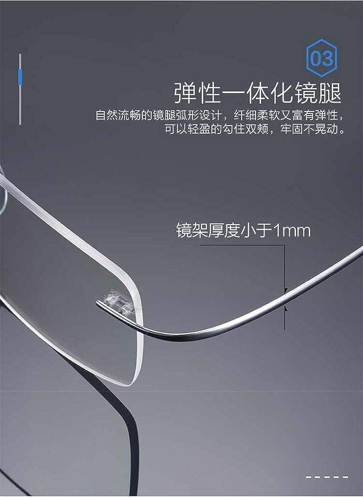 Frameless glasses polygon anti-blue light radiation silver