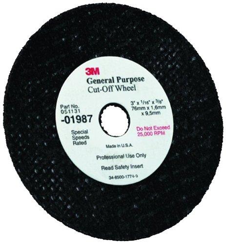 3M 01987 3'' x 1/32'' x 3/8'' General Purpose Cut-Off Wheel (Pack of 50)