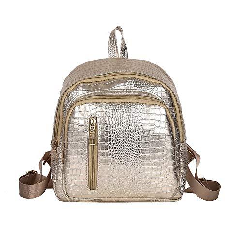 Gold Casual Zippers Women's Pu Shoulder TSDBG206763 Bags Gold AalarDom Dacron UASqwW8