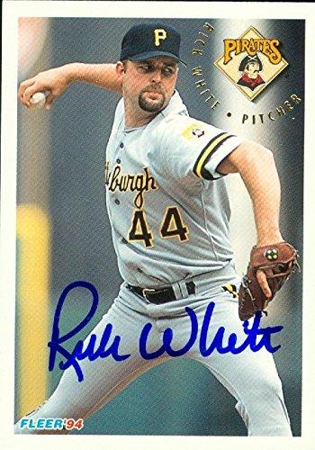 Rick White Autographed Baseball Card Pittsburgh Pirates