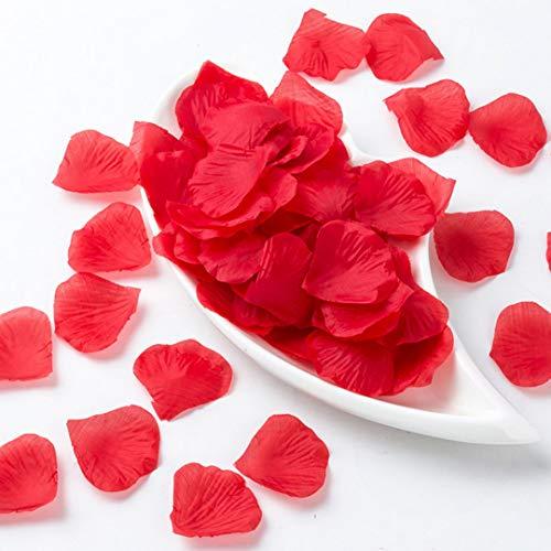 (Surlan Artificial Silk Rose Petals Wedding Flower Decoration Rose Flower Petals for Wedding Party Favors Decoration and Vase Home Decor Wedding Bridal Decoration)