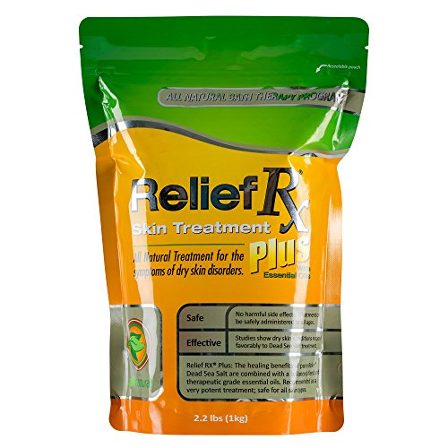 Relief Rx Plus Psoriasis Treatment Dead Sea Salt - 2.2 lb Bag (Sea Salt Psoriasis)