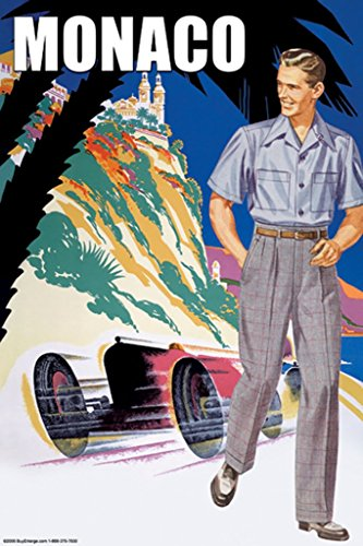 ArtParisienne 1950s Male Fashion Monaco No. 2 20x30 Poster Semi-Gloss Heavy Stock Paper Print