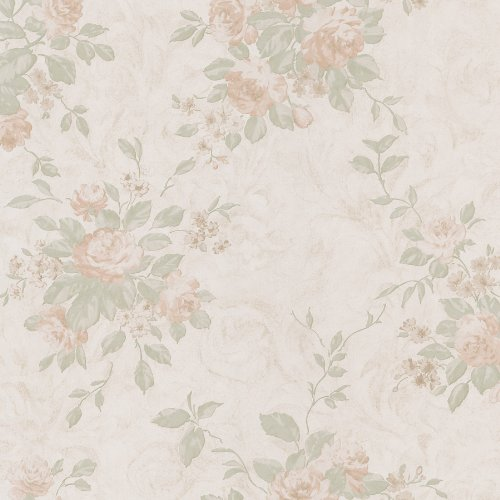 Floral Mirage Wallpaper (Mirage 988-58608 Musette Floral Bouquet Wallpaper, Peach)