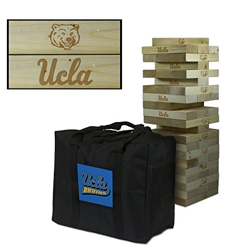 NCAA California Los Angeles UCLA Bruins Wooden Tower Game Tumble Primary Logo Tower, One Size, Multicolor by Victory Tailgate