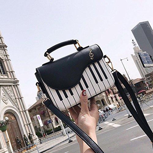 Fresca Piano Portátil Bolso Hombro En Bolsa Moda Del Pequeña La Toogoo Nuevo De Impresión De Negro Viento Golpe Color Diagonal Dulce PFngxUZ