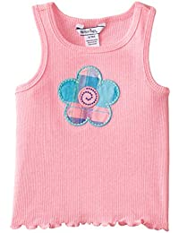 Baby Girls' Rib Knit Flower Tank Top