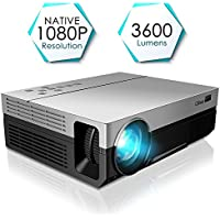 Projector, CiBest Full HD Native 1080P Video Projector 3600 lm Luminous Flux Led WSUVGA Movie Projector