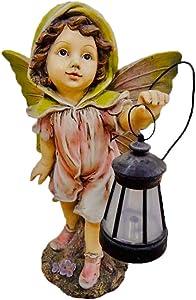 CT DISCOUNT STORE Elegant Solar Fairy Outdoor Garden Decoration (Pink Fairy)