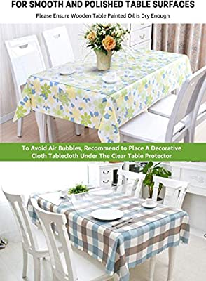 White Oval Table Runner Surface Protectors Easy Wipe Clean.