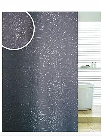 Amazon.com: Black Extra Long Diamante Spiral Glitter Detail Bathroom ...