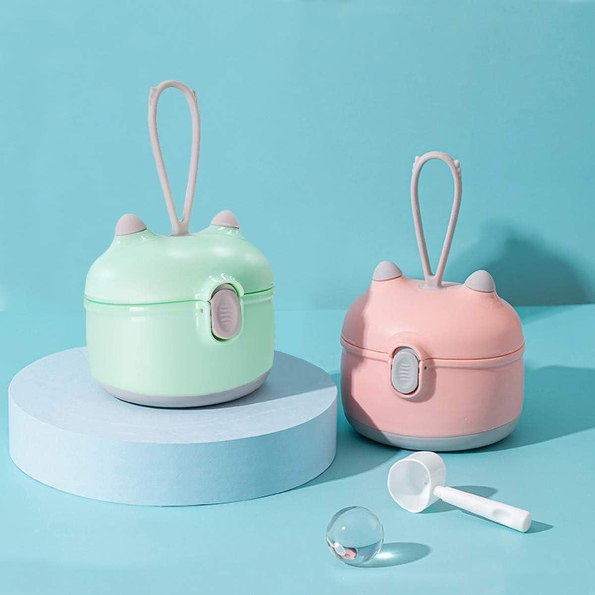Baby Formula Dispenser Pink Portable Milk Powder Dispenser Snack Storage Container for Travel Bedroom Outdoor /…