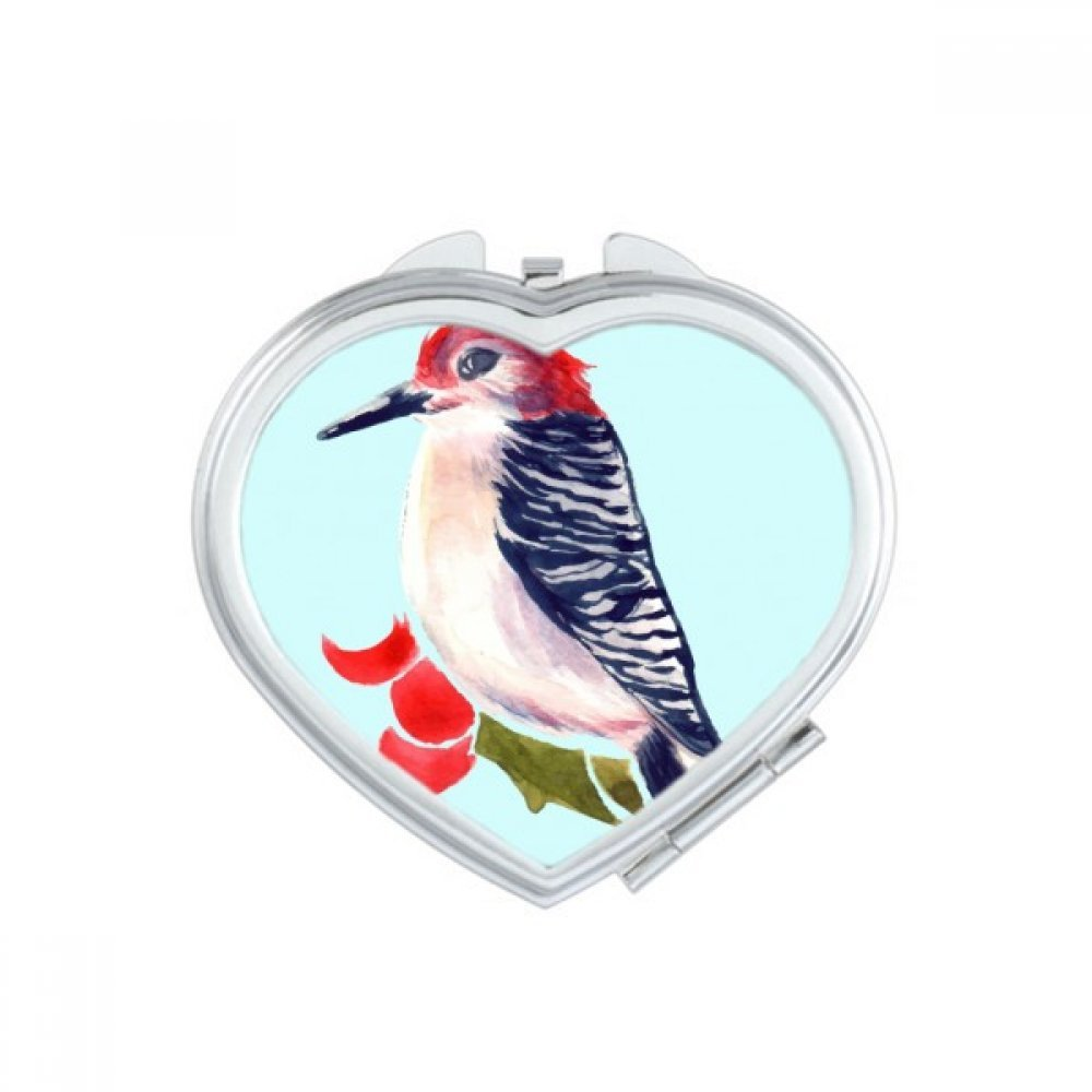 Bird Animal Magpie Redhead Heart Compact Makeup Mirror Portable Cute Hand Pocket Mirrors Gift