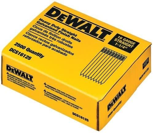 DC618 Dewalt DT9914-QZ N/ägel 2500 St/ück Stauchkopf edelstahl 20/° 1,6 x 63mm f/ür DC610