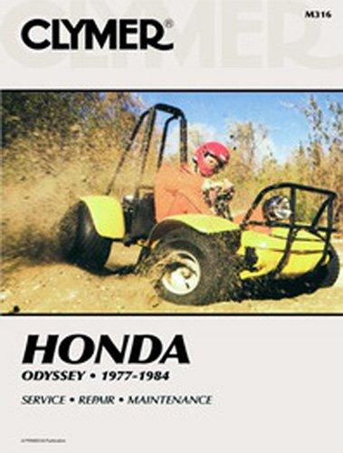 amazon com: clymer repair manual for honda atv odyssey fl250 77-84:  automotive