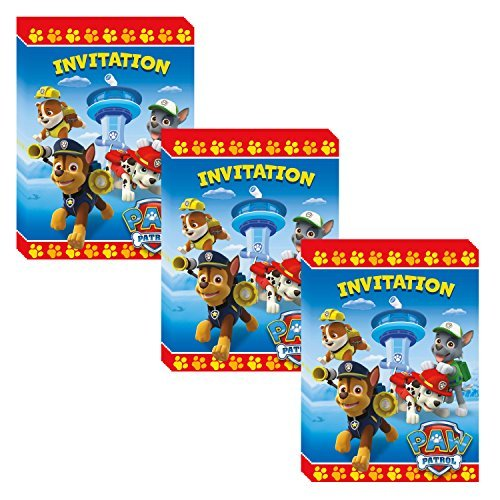 PAW Patrol Party Invitations - 24 Pieces -