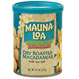 KC Commerce Mauna loa Dry Roasted Macadamia nut With Sea salt 4.5oz Pack of 6 Gift set
