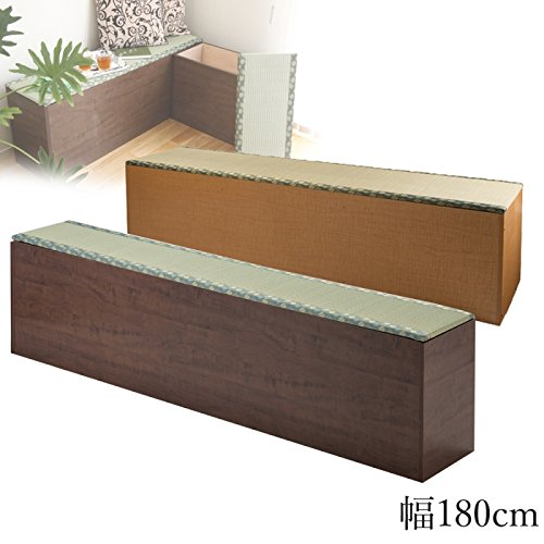 畳 収納 ボックス 畳ベンチボックス い草グリーン 幅180cm(ナチュラル) B019TCMGTM ナチュラル ナチュラル