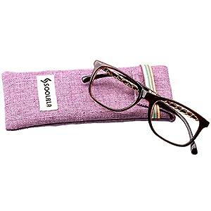 SOOLALA Designer Square Clear Lens Eyeglasses Frame for Prescription Wearer, Black