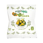 Veggicopia Olives, Tasty Green Pitted Olives, 1.05 Ounce Snack Bags (Pack of 16)