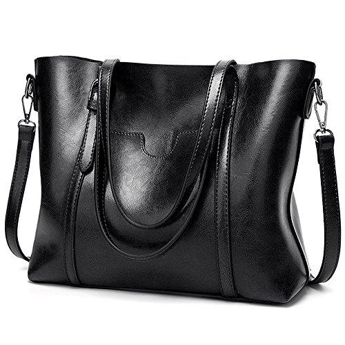 UTO Leather Shoulder Capacity Shopper