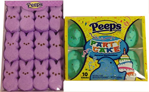 Easter Peeps Variety Bundle 2 Items Lavendar Bunny and Chick