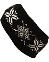 Winter Ladies Girls Thick Knit Snowflake Headwrap Headband Ski Snow Skate
