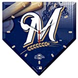MLB 2520291 Milwaukee Brewers High Definition Plaque Clock