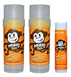 Balmers- Monkey Balm Sticks- Organic Sea Buckthorn Oil- Dry Skin and Eczema Remedy Balm- (2)- 2oz Sticks & (1) 0.6oz Stick For Sale
