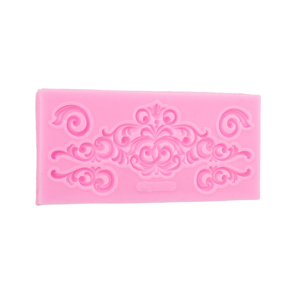CH Pink Lace Modeling Fondant Cake Silicone Mold Cake Decorating Tools