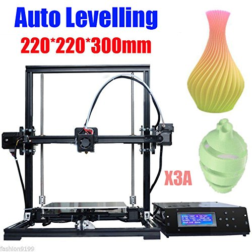 Upgrade Auto Levelling DIY 3D Printer Kit by TRONXY | Aluminium Profile Extrusion 3D Printing Machine w/ LCD Screen -Support 1.75mm ABS/PLA/HIP/PP/Wood Filament - 8G SD Card & Assemble Tool Included - 275 Profile Wheel