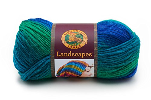 Lion Brand Yarn 545-207 Landscapes Yarn, Blue Lagoon